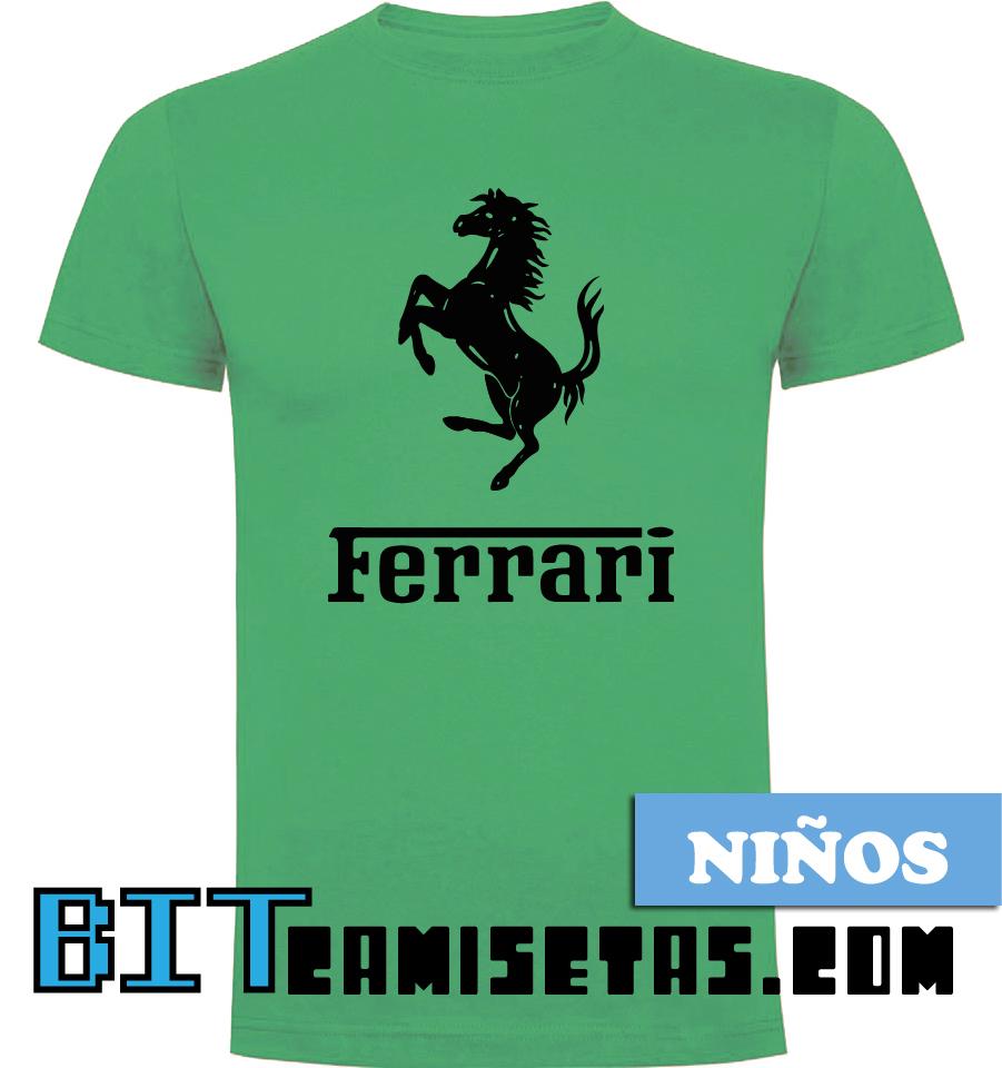 8864ab539d Camiseta Ferrari Manga Corta Niño | Bitcamisetas.com